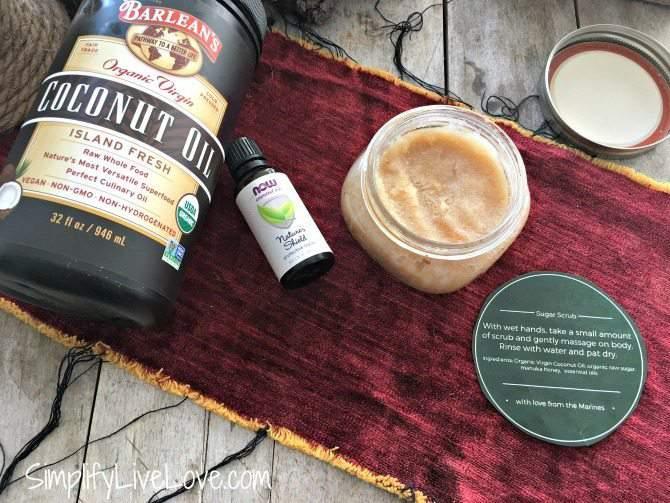 Immune Boosting Coconut Oil Sugar Scrub Recipe