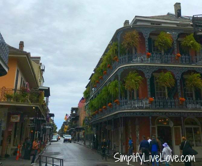 Beautiful buildings in the French Quarter in New Orleans