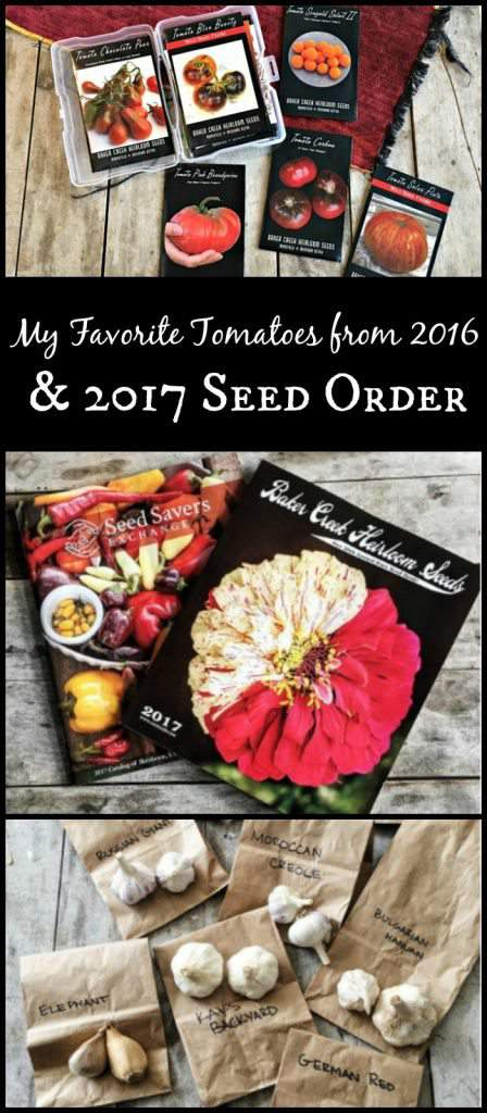 My Favorite Tomatoes from 2016 & 2017 Garden Seed Purchase