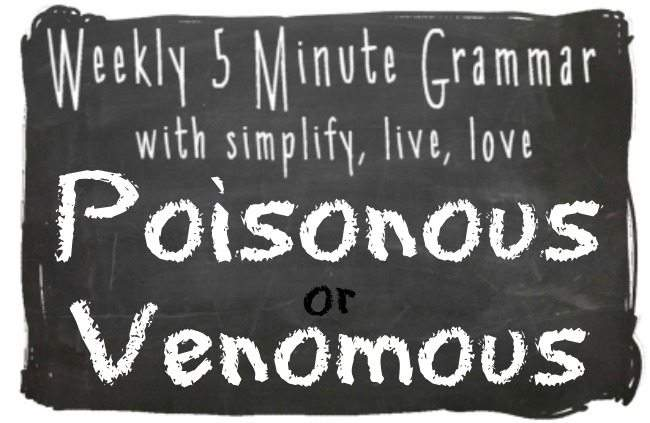 Poisonous or Venomous – What's the Difference