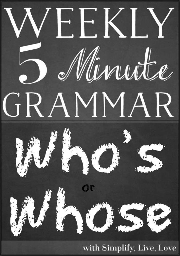 Curious about the right time to use who's or whose? This quick 5 minute grammar lesson will teach you the right usage in no time.