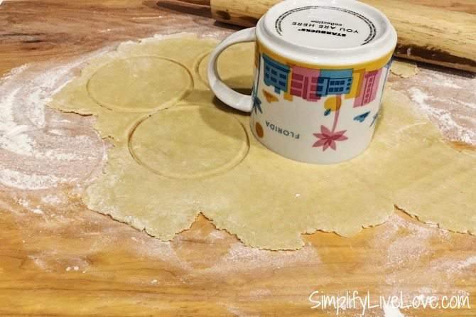 roll out the empanada dough