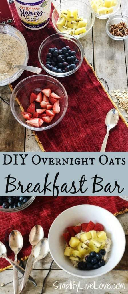 This DIY overnight oats bar gets a nutritious and delicious breakfast on the table in minutes so your kids will have time to eat before heading to school. The best part is, it's fully customizable so everyone gets what they like.