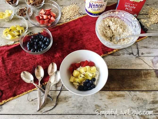 DIY Overnight Oats Bar - Healthy Breakfast in a flash