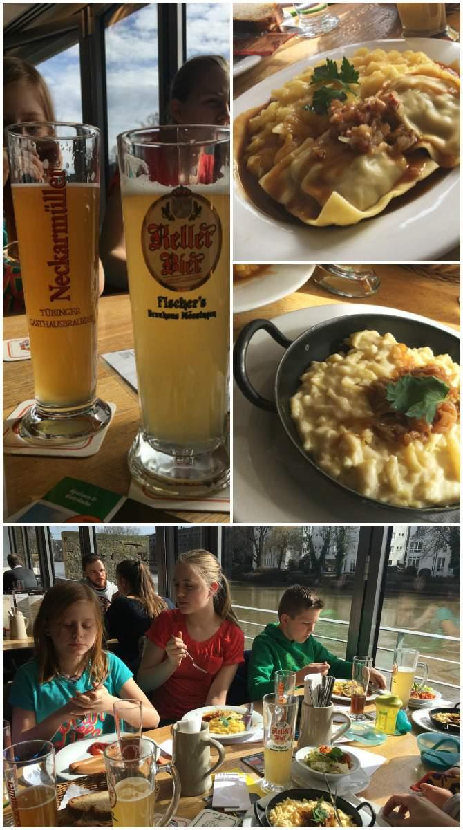 A meal at the Neckar Muller in Tubingen Germany