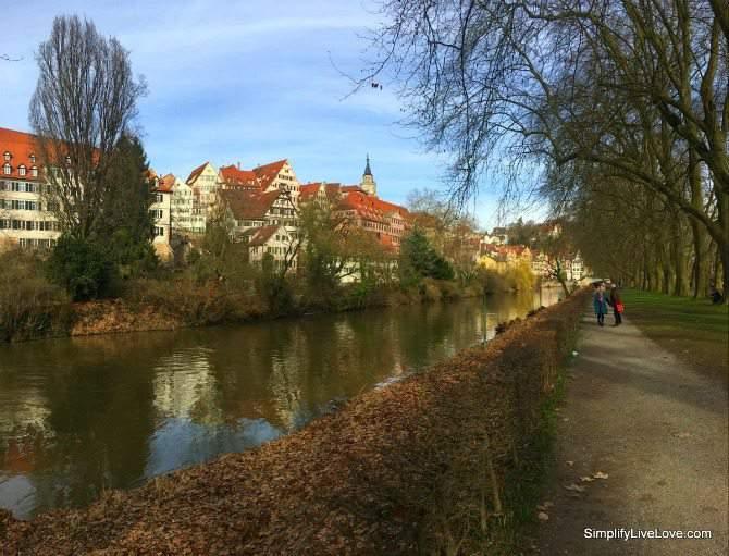 A walk on the Neckar Insel (Neckar Island) in Tubingen Germany