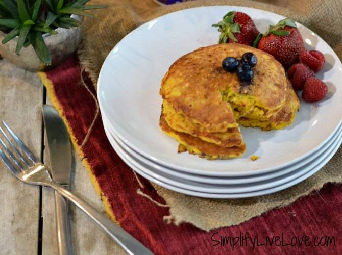 High protein cottage cheese pancakes