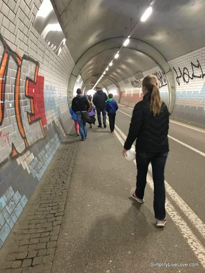 Pedestrian tunnel to the Tubingen Altstadt