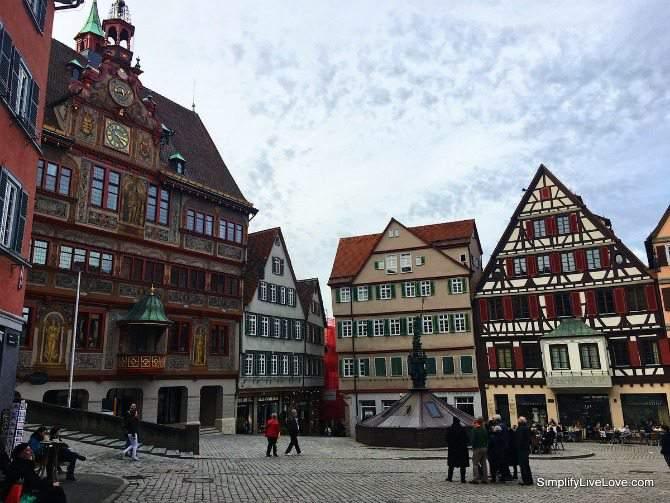 Rathaus at Marktplatz in Tubingen Germany