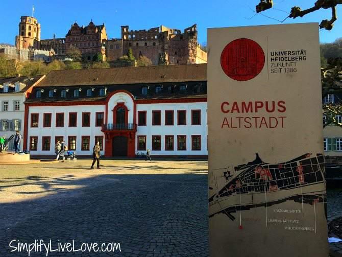 University of Heidelberg and the Heidelberg Castle