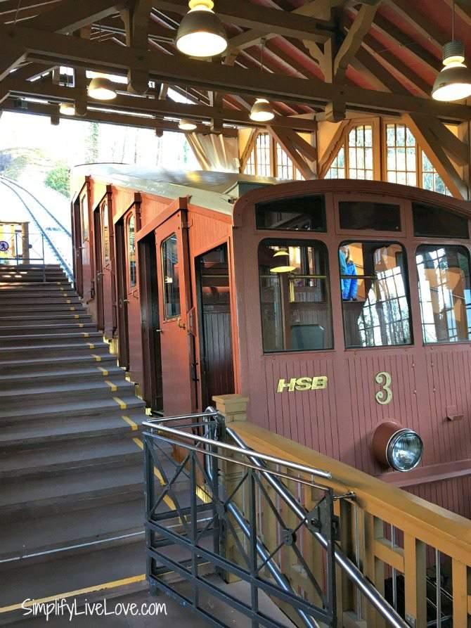 funicular railroad Heidelberg Germany Bergbahn