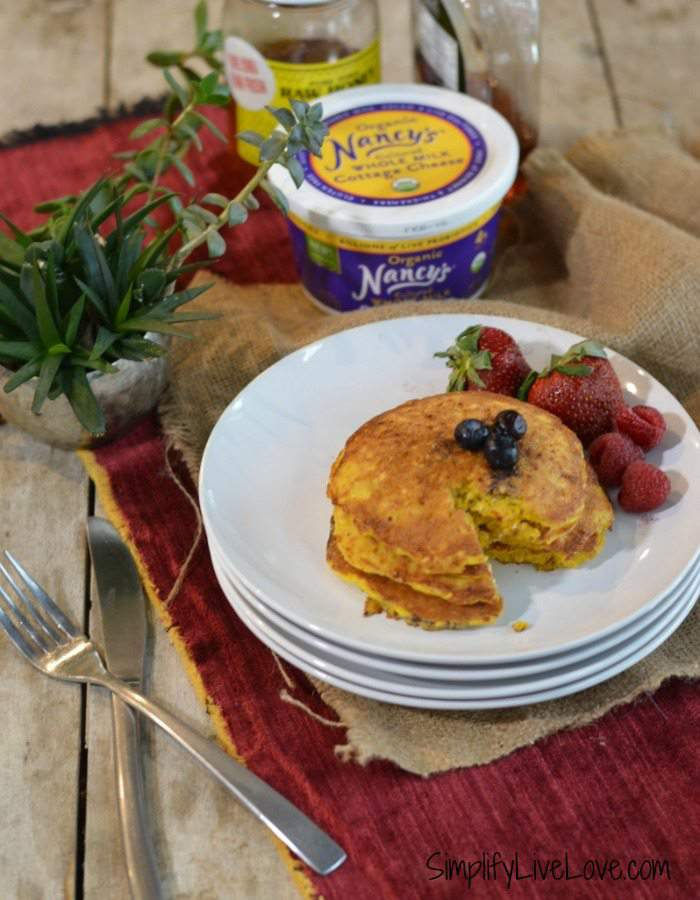 high protein cottage cheese pancakes long