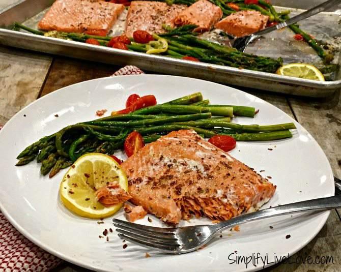 salmon asparagus sheet pan dinner featured