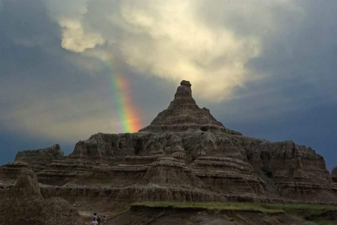 Badlands National Park South Dakota rainbow