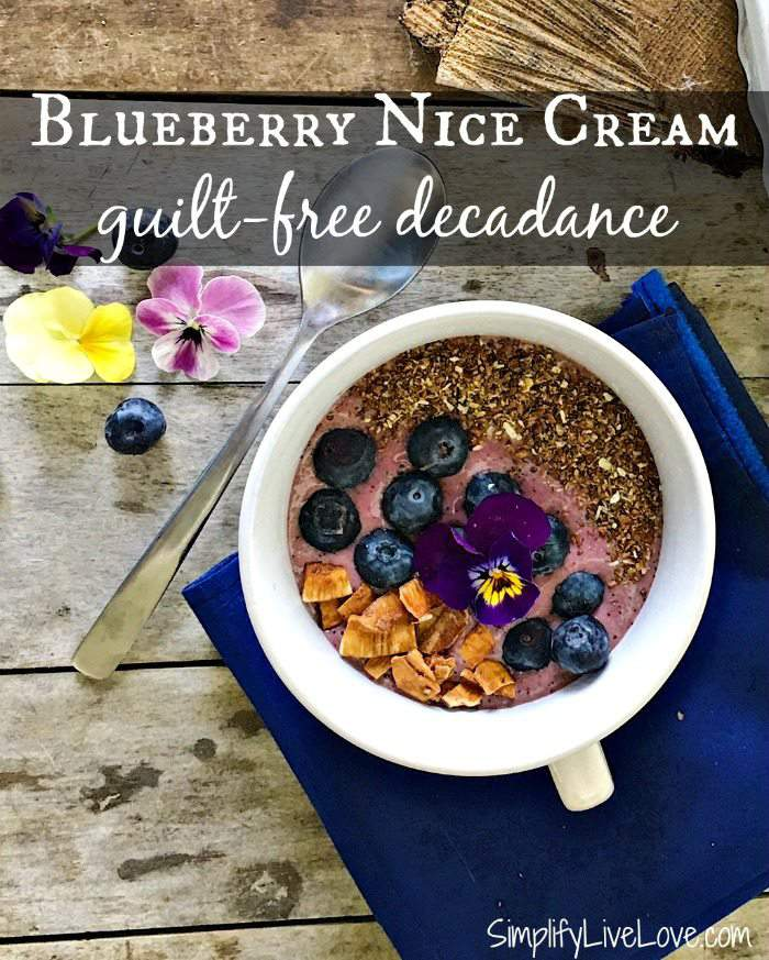 What better way to enjoy a tasty and guilt-free treat than this Blueberry Nice Cream Recipe! Vegan and sugar free, everyone loves this creamy summer treat!