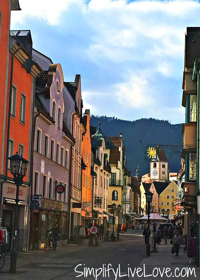 town of Fussen Germany