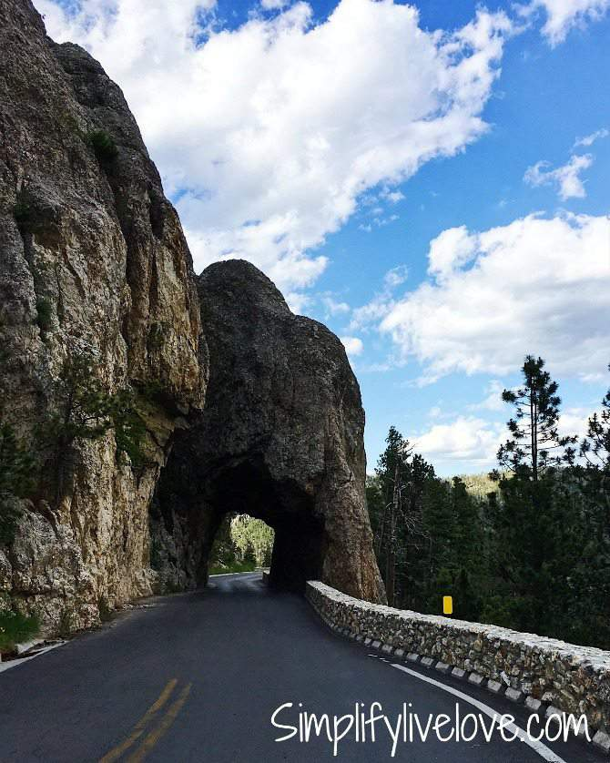 Iron Creek Tunnel on Hwy 87 in South Dakota