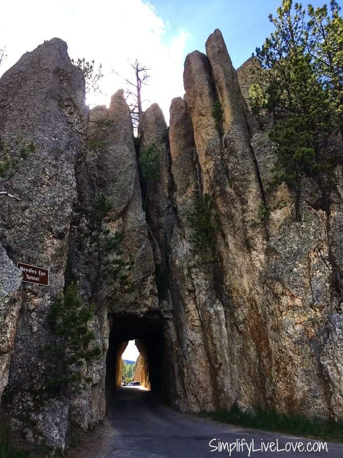Needles Eye Tunnel on Needles Highway in the Black Hills