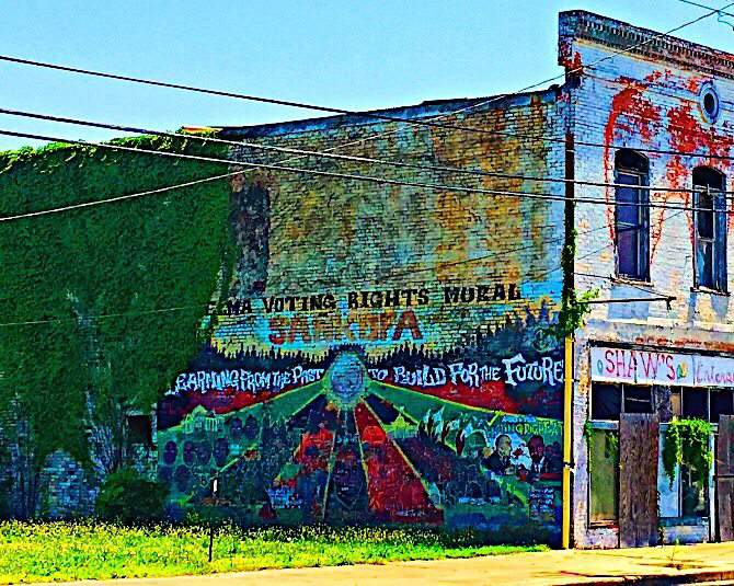 Voting Rights Mural in Selma, Alabama