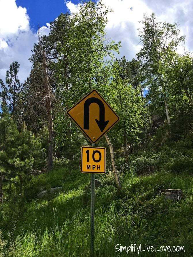 switchbacks on needles highway south dakota