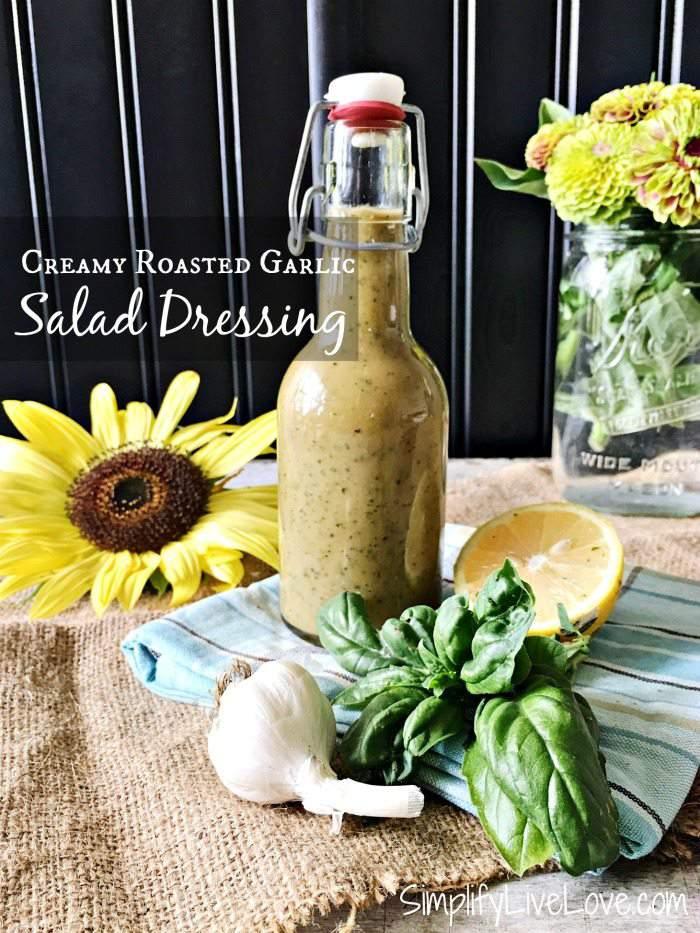 Creamy Roasted Garlic Salad Dressing