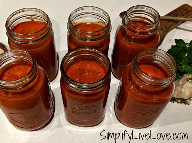 finished roasted tomato sauce