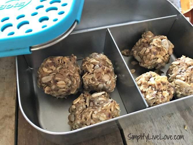 snack mix No-Bake Honey Sunflower Butter Energy Balls