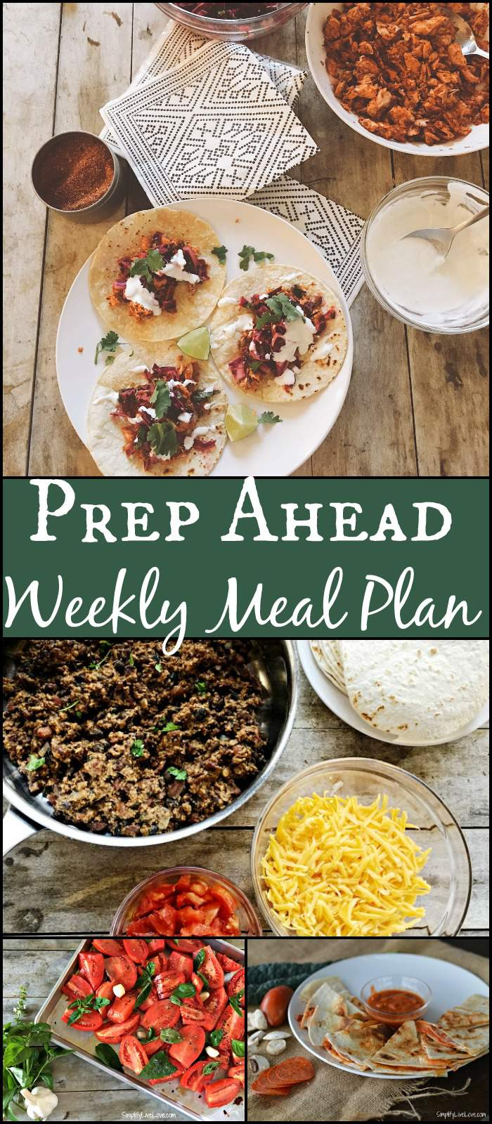 This prep ahead weekly meal plan will help you get healthy, from-scratch meals on the table in a hurry. It's perfect for fall and delicious!