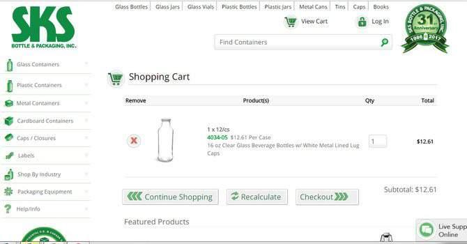 SKS Bottle shopping cart