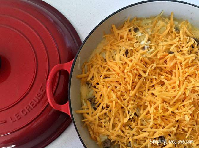 add cheese before baking