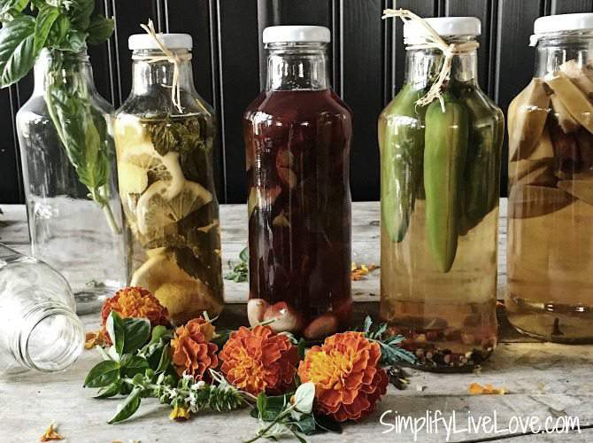 how to make herbed vinegar easily at home