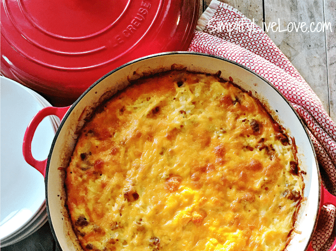 make ahead breakfast casserole that's not mushy